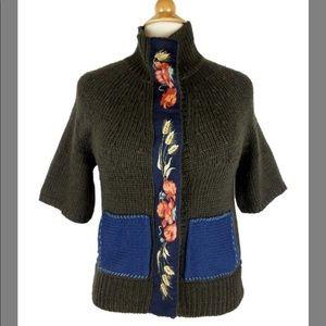 FIELD FLOWER Wool Floral Sweater Cardigan